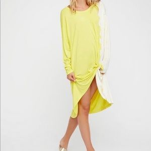 FREE PEOPLE Oversized Bleached Tunic Dress top tee